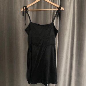 F21 satin little black dress